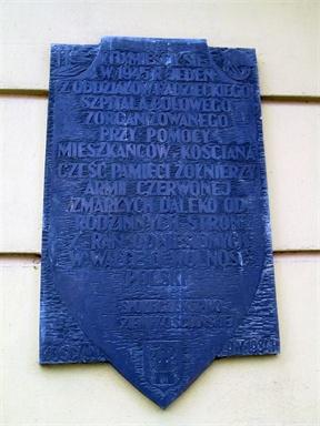 Tablica ku czci Armii Czerwonej w Kościanie