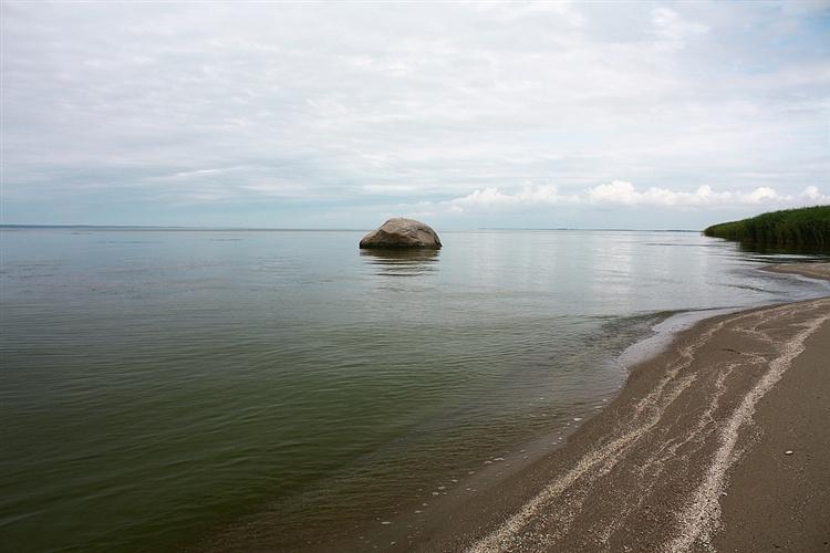 Камень - жертвенный алтарь Пруссов на берегу Калининградского залива