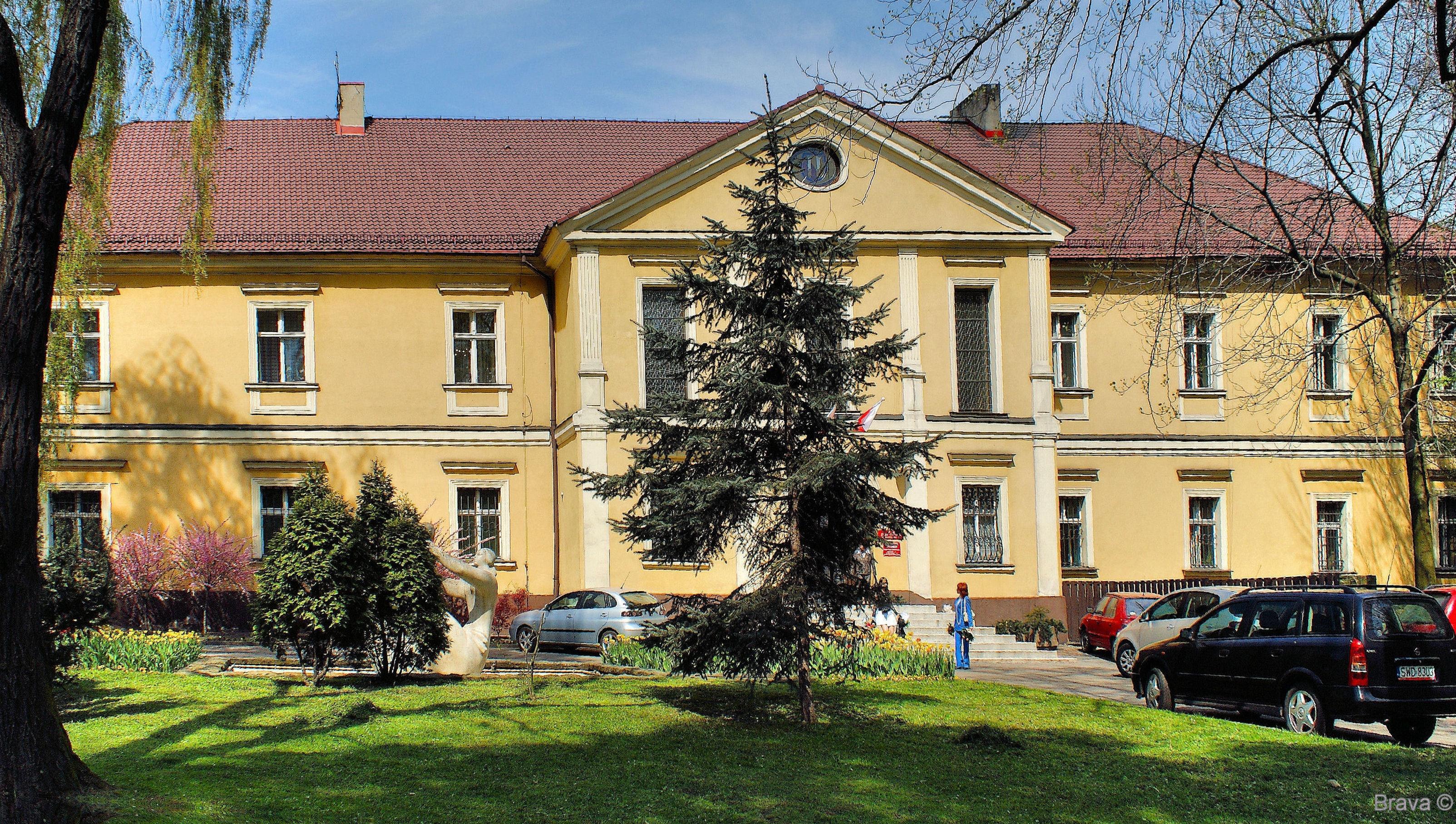 wodzisław śląski klasycystyczny pałac 1745 rzeźba